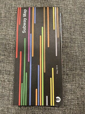 NYC Subway Map May 2019 Official LIRR WTC New York City Free Shipping!