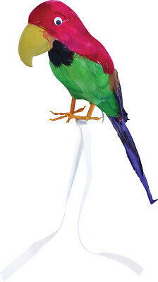 PIRATE TREASURE ISLAND TROPICAL BIRD FEATHER WRIST PARROT Unisex Fancy Dress