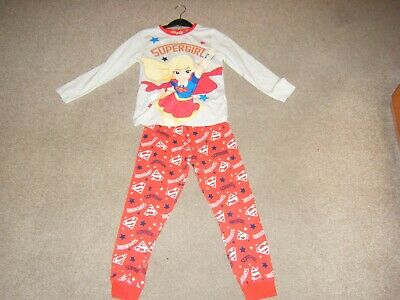 Girls Red and Grey Long Sleeved Pyjamas Age 6-7 Years from George