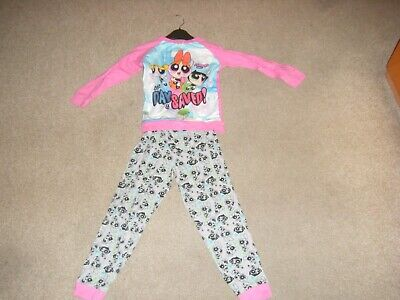Girls Pink Long Sleeved Pyjamas Age 6-7 Years from George