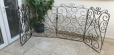 RARE UNUSUAL Wrought Iron Shop Window Display panels decorative scroll design