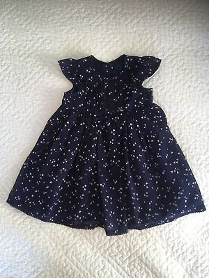 Baby Girls Navy Blue Party/Occasion Dress 6-9 months From George