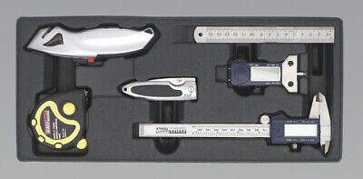 Sealey TBT12 Tool Tray with Measuring & Cutting Set 6pc