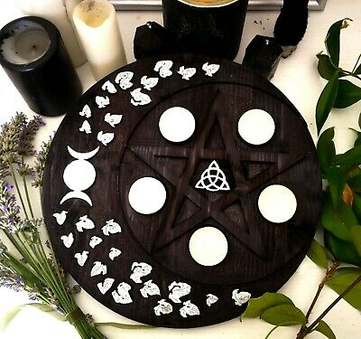 Pentacolo porta candele, witchcraft, wicca, candle, spells, altar
