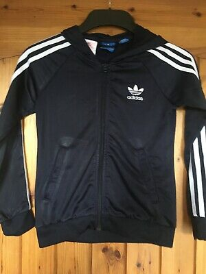 Geniune Adidas Girls Navy hoodie Jacket age 9-10 years