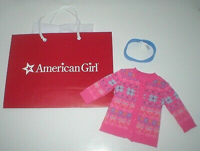 RARE American Girl Retired Store Exclusive Fair Isle Sweater Coat & Headband Set