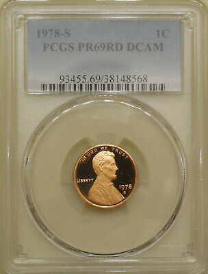 1978-S PCGS PR69RD DCAM Lincoln Cent Bunting Label