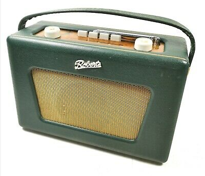 Great vintage Roberts Revival R550 Green FM Portable Radio