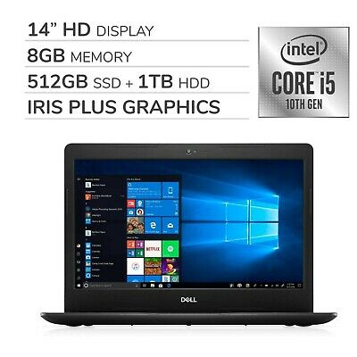 "Dell Inspiron 2020 Premium 14"" HD Laptop Notebook Computer,4-Core 10th Gen In..."
