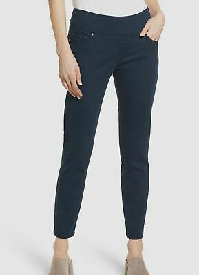 $270 Jag Jeans Womens Blue Amelia Pull-On Slim Fit High Rise Ankle Pants Size 10