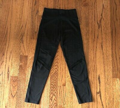 Girls Justice Size 8 Black Moto Leggings / Stretch Pants