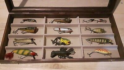 Old collection of fishing lures Vintage tackle antique frog clarks pflueger swis