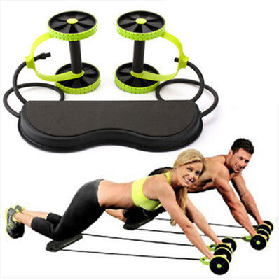 ABS  Double Wheels Ab Roller Gym Abdominal Exercise Fitness Slimming Equipment