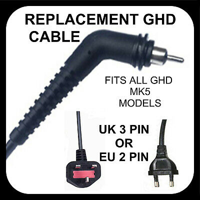 GHD Cable Hair straighteners Repair power cord for all mk5 Models