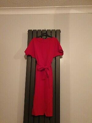 Red Boohoo Size 8 Maternity Dress