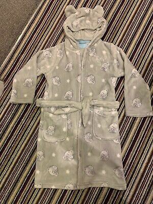 Girls Super Soft Hooded Tatty Teddy Dressing Gown From M&S Age 7-8 Years.