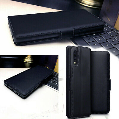 Samsung Galaxy A90  5G Low Profile Real Leather Wallet Case Bumper DIGIT™