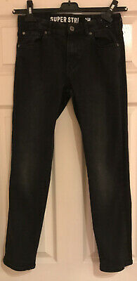 H&M Boys Black Super Stretch Skinny Fit JEANS AGE 12 - 13 Years