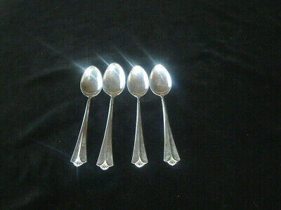 David Andersen Norway 830S Radhus Med Vifte Demitasse Spoons (Set of 4)