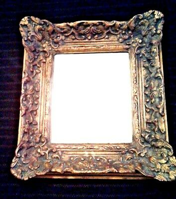 BAROQUE Antique ORNATE GILT GOLD BEVELED  Wall Mirror WOOD SCROLLS LEAVES