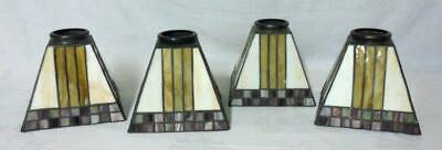 Arts & Crafts Stained Glass Lamp Shade Set 4
