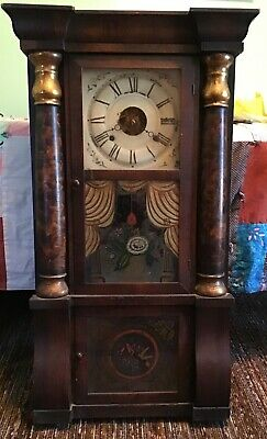 Antique 8 Day Seth Thomas Movement Triple Decker Style Vintage Mantel Clock.
