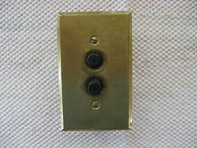 Vintage Arrow 3 Way Push Button Switch & Cover Plate (NR)