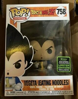 Funko ECCC 2020 Dragonball Z Vegeta Eating Noodles Exclusive Preorder Mid March