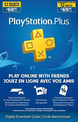 Sony PlayStation Plus (12 Month) for PS3 / PS4 / PS Vita