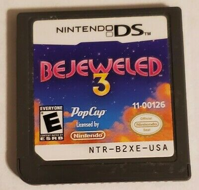 Bejeweled 3 (Nintendo DS, 2011) Cartridge Only