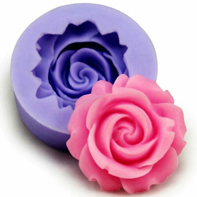3D Rose Flower Silicone Fondant Mold Cake Decor.Tool Mould SALE Chocolate G0X0