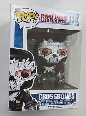 Funko POP Captain America Civil War 134 Crossbones Vinyl Bobblehead NEW
