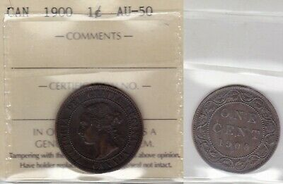1900 ICCS AU50 1 cent Canada one penny large
