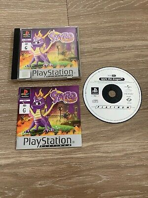 Sony Playstation 1 Ps1 Game Spyro The Dragon Complete