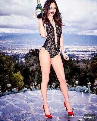 Megan Fox - In A Black Teddie And A Bottle Of Champagne.