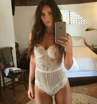 Megan Fox - In A White Teddie Taking A Selfie !!