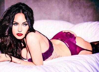 Megan Fox - Lying On Her Stomach In Bed With Panty And Bra !!!