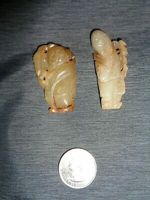 Lot of two  the carved jade pieces