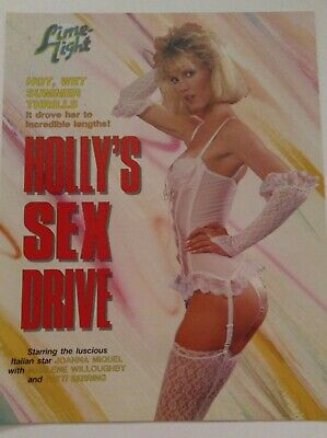 Joanna Miquel in Holly's Sex Drive Video  Promo Ad Slick Poster