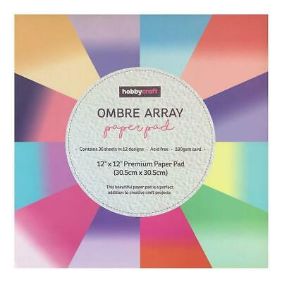 Poppy Crafts - 12x12in Paper Pad - Ombre Array