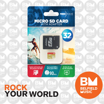 Powerwave 32GB Micro SD Card + Adapter (for GoPro Cameras) - Brand New
