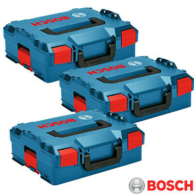 Bosch L-BOXX 136 Storage System Stacking Case - 1600A012G0 Pack Of 3