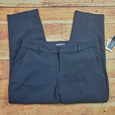 Old Navy Harper Trouser Cropped Dress Pants Womens Size 12 Regular Blue Mid Rise