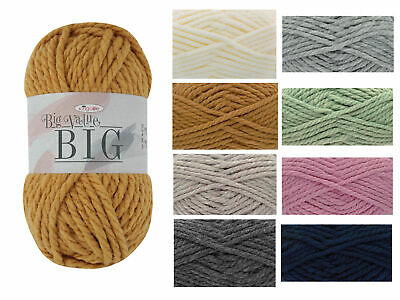 King Cole Big Value BIG 250g Knitting Yarn - Premium Acrylic Super Chunky