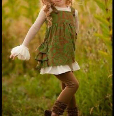 Girls Persnickety Dress Size 3 DARLING Jeweled Forest Olivia Jumper Boutique