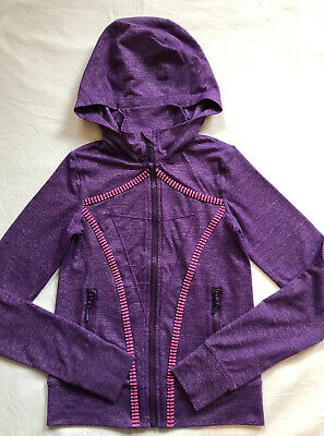 IVIVVA by Lululemon Perfect Your Practice Hoodie Jacket Size 8 Purple Define