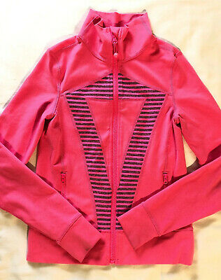 IVIVVA by Lululemon Perfect Your Practice Jacket Sz 10 Zing Pink Classic Define
