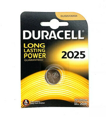 Duracell CR2025 3V Lithium Coin Cell Battery 2025 DL2025 BR2025