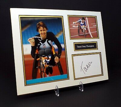 Tanni GREY-THOMPSON Signed Mounted Photo Display AFTAL Gold Medal Paralympian
