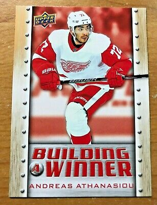 2019-20 UD RW CS Building A Winner trading card of Andreas Athanasiou